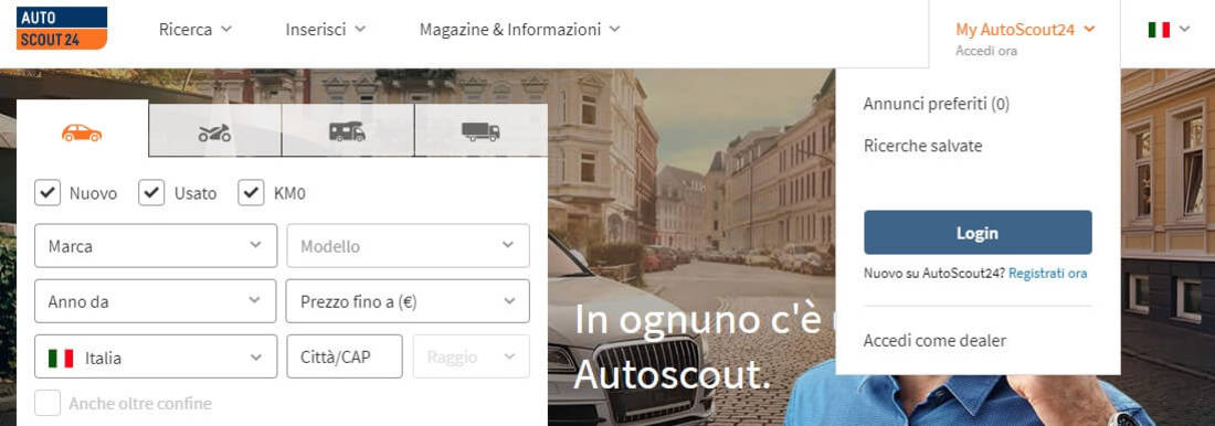 How to place an ad on AutoScout24 01